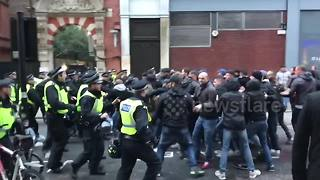 Roma fans clash with police before Chelsea match - Video