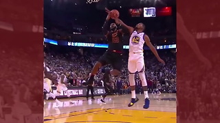 LeBron James Is Crying Foul After This No-Call Against The Warriors - Video