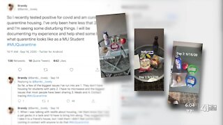 MU student tweets about life in quarantine housing