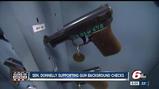Indiana Senator suports gun background checks - Video