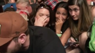 Audience Members Crouch, Some Stand, as Shots Ring Out at Vegas Concert - Video