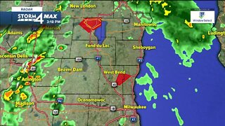 Tornado Warning issued for Washington and Ozaukee Counties until 5:45 p.m.