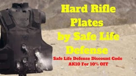 Hard Rifle Plates by Safe Life Defense - Discount Code AK10 For 10% OFF