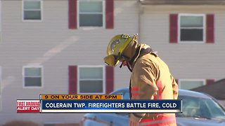 Colerain Township firefighters battle fire, cold