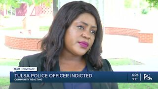 Community reacts after Tulsa police officer indicted