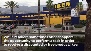 IKEA Giving Customers Discount in Exchange for Bringing in Urine-Soaked Advertisement - Video