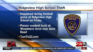 Police confirm truck was stole during high school football game