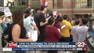 UFW to respond to President Trump's DACA Decision - Video