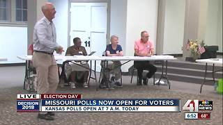 Polls open for August 2018 primary elections - Video