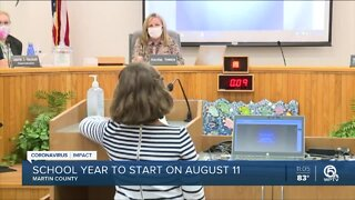 School year to start August 11 in Martin County
