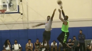 LeBron James BEASTS Pickup Game at UCLA - Video