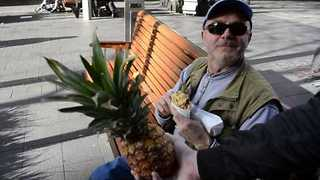 Bemused Strangers Surprised With Pineapple - Video