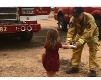 Adorable Toddler Gives Breakfast To California Firefighters Battling Carr Fire - Video