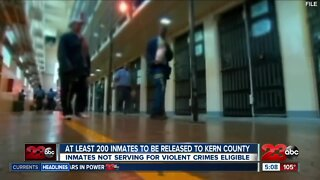 About 200 inmates to be released early to Kern County