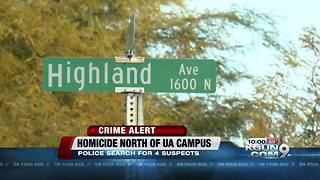 Police investigating homicide north of UA campus - Video