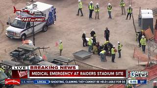 Worker injured at stadium construction site