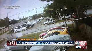 Helicopter crashes onto busy Tampa highway, rotor blade hits truck, killing passenger