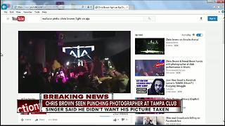 Police: Chris Brown allegedly punched club photographer in Tampa - Video