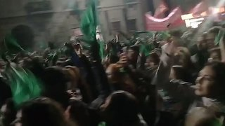 Crowds Continue to Rally in Cordoba After Senate Rejects Legal Abortion Bill - Video