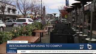 Restaurant owners refusing to comply