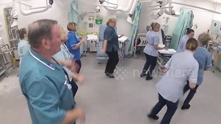 Staff at this UK hospital start the day with a morning ballroom dance routine