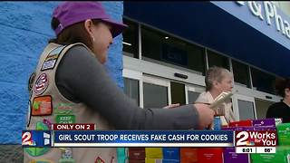Girl Scouts get fake money for cookies - Video