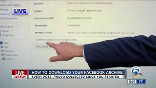 Here's how to download your Facebook archive