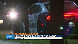 Green Bay robbery suspect at large - Video