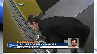 'Have a good day': Polite robber faces charges - Video