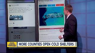 Cold weather shelters open up across Tampa Bay