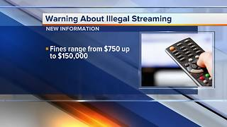 New warning about illegal streaming - Video