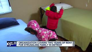 Family gets home from Detroit Rescue Mission - Video