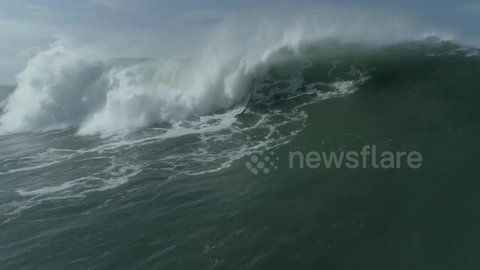 British surfer engulfed by giant wave in terrifying wipeout off Portugal