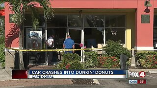 Car crashes into Cape Coral doughnut shop