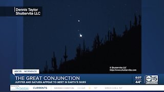 Arizona's view of the Great Conjunction happening tonight