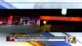 Cincinnati police investigate 2 shootings within 2 miles of one another