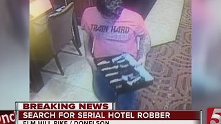 Man Sought In Nashville Hotel Robberies - Video