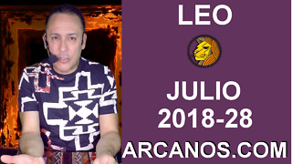 HOROSCOPO LEO-Semana 2018-28-Del 8 al 14 de julio de 2018-ARCANOS.COM - Video