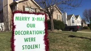Thief steals decorations from KC family's elaborate Christmas display - Video