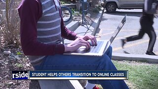 Student helps others transition to online classes