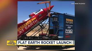 California man launching homemade rocket to prove Earth is flat - Video