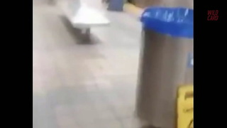 Eagles Fan Bounces Off Subway Pillar And Train - Video