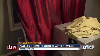 Henderson home suddenly flooded with sewage - Video