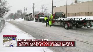 Dangerous road conditions create more business for tow truck drivers