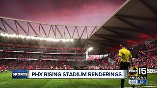 Phoenix Rising FC unveils potential MLS stadium - ABC15 sports - Video