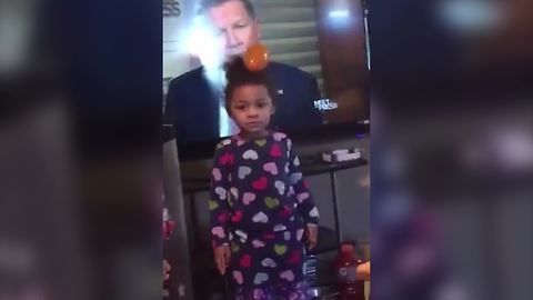 Funny Tot Girl Searches All Over For Her Balloon