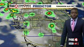 Evening storms taper off