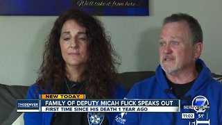 Parents of Deputy Micah Flick speak publicly for first time since his death