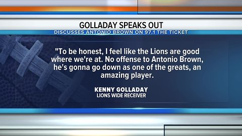 Lions WR Kenny Golladay speaks out about Antonio Brown