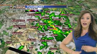 Rain chances Saturday evening in the Valley - Video